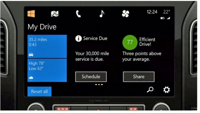 Windows in The Car, Microsoft