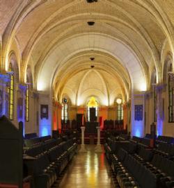 Installée dans un ancien couvent, la Grande Loge y héberge son musée, sa bibliothèque et ses archives.