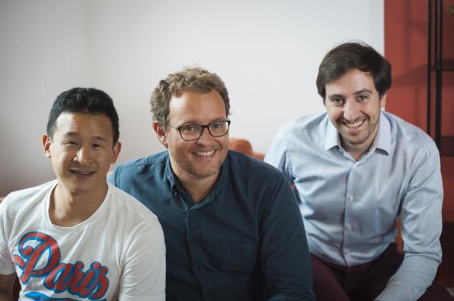 Irwin Lan (directeur de l'innovation), Pierre Lassarat (directeur général) et Romain Revellat (président) © Mathilde Beaugé