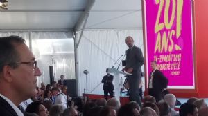 Le Premier ministre, Edouard Philippe, le 29 août 2018 à l'université d'été du Medef