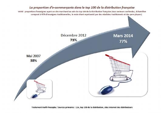 Le poids croissant des click & mortar | Dossier : Le visage de l'e-commerce français en 2020, selon Xerfi-Precepta