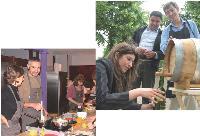 Chef Martial (à gauche) dispense des cours de cuisine, tandis que Oenodyssée (au-dessus) propose de découvrir l'univers du vin.