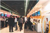 Le salon de la société Alcatel-Lucent se déroule au Palais des Congrès de Paris durant quatre jours.