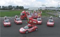 Antargaz, avec six véhicules événementiels, faisait partie de la Caravane du Tour de France.