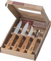 Le coffret «Les Essentiels du cuisinier» d'Opinel, avec quatre couteaux différents, coûte environ 22 euros HT.