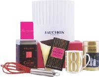 Le coffret «Chocolate time» de Fauchon s'inscrit dans la tendance actualle des cours de cuisine (58,53 Euros HT).