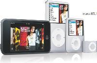 Aux classiques d'Apple (iPod Nano, iPod shuffle, iPod Classic), s'est ajouté le iPod touch qui offre de nombreuses innovations technologiques.