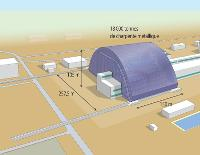 L'arche sera assemblée à l'écart du réacteur accidenté et sera glissée sur des rails pour venir coiffer le sarcophage. Un chantier de 432 millions d'euros.