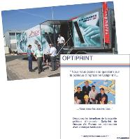 NRG a créé des affiches pour vanter les mérites du programme Optiprint d'Air France et organisé un road show d'information.