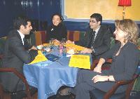 Stanislas Asstili parle formation avec les représentants de son partenaire Edmond de Rotchschild Asset Management.