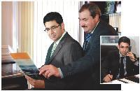 Stanislas Assuli et son directeur général (à dr.). Ce dernier est un ancien «dirco» et comprend donc bien ses problématiques.