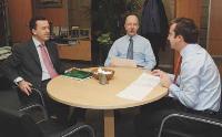 Marc-Henri Bladier partage son bureau avec Maurice Gauschot, le président de CBRE France, et Antoine Derville, président de CBRE Investment, deuxautres membres lu directoire auquel il appartient depuis un an.
