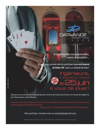 datavance recrute autour d u0026 39 une table de poker