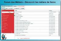 Un site web interne permet aux collaborateurs de Xerox de connaître tous les métiers du groupe.