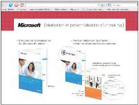 Microsoft propose à ses revendeurs de construire leurs opérations de marketing direct depuis son site web via des mailings personnalisés.