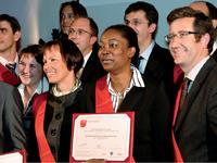 La promotion 2007 de l'Executive MBA de l'EM Lyon.