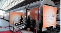 En partenariat avec la SNCF, le train voulu par Cafpi a sillonné la France et rapporté 300 affaires.
