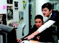 Avec Yaël Dorfner, en charge des relations presse de l'agence, intégrée à la direction du développement.