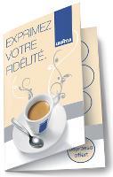 La carte de fidélité Lavazza offre un café pour neuf consommés.