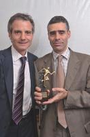 François Richard s'est vu remettre le prix par Patrick Reboul (Sage).