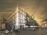 Les façades du Palace Bonerowski à Cracovie.