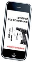 L'application iPhone de Radiospares identifie le bon composant parmi ses 450 000 références.