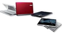 De gauche à droite: EasyNote de Packard Bell, tablette EliteBook d'HP.