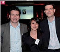 Pierrick Briand, Juliette Truong, groupe Rhinos, et Laurent Bailliard, Action Commerciale.