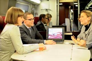 Un salon pour quatre passagers, afin de préserver la confidentialité d'une réunion de travail.