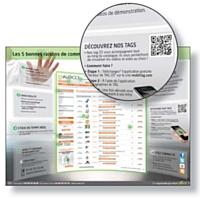 Les QR codes donnent accès à des informations complémentaires sur smartphone.