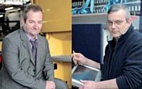 Jacques Michel, commercial (à gauche), et Jean-Paul Besnouin, technicien, travaillent en binôme.