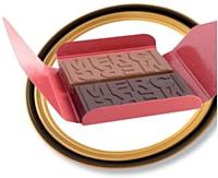 Jadis et Gourmande personnalise le chocolat. Comptez 3,46 euros HT, pour un étui de 120 g.
