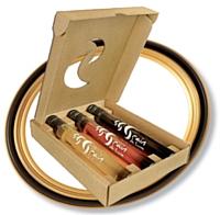 Vindemiatrix présente sa gamme «Grain de lune» qui peut se déguster dans des tubes en verre de 10 cl. .Prix: 1 6,08 euros HT.