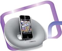 Philips mise sur le hype, avec cette station iPhone. Prix: de 60 à 500 euros HT.