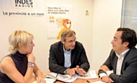 Jérôme Dessaux est entouré de ses deux directeurs commerciaux adjoints: Catherine Vernier et Mathieu Desrez.