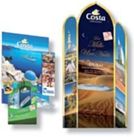 Costa Croisière met à la disposition des agences PLV et brochures pour se démarquer de la concurrence.