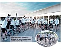 Vingt-cinq cadres de Qliktech au départ de la plus grande course cycliste amateur du monde.