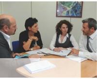 Ghislaine Rabec travaille en collaboration étroite avec Rodolphe Barquin (à droite), chargé de la politique réseau