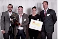 De gauche à droite: Karim Acherchour (Red Bull), Eric Grasland (Up Sell), Carine Haazs (Up Sell) et François Crépin (Sorap).
