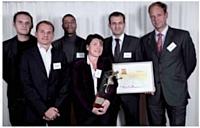 De gauche à droite: Hugo Brizard (Microsoft France), Aymeric Soulard (Microsoft France), Olivier Colas (Microsoft France), Valérie Magnan (Circular France), Benoît Cazaux (Circular France) et François Crépin (Sorap).
