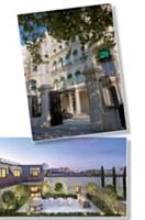 L'offre hôtelière connaît un regain de dynamisme. En haut: Le Shangri La, Paris XVIe arr. En bas: Le Mandarin Oriental, Paris Ier arr.