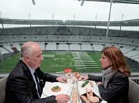 Bruno Blahic aime recevoir ses interlocuteurs au Panoramique, le restaurant du Stade de France.