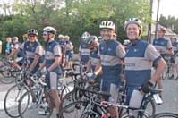 Carlo Olejniczak au sein de l'équipe cycliste du département des ventes d'Accor.