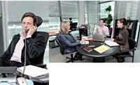 Carlo Olejniczak fait le point avec l'équipe marketing avant le salon international du voyage d'affaires Imex.