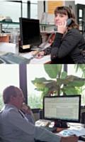 Les opératrices s'entraînent par téléphone avec des formateurs spécialisés, une demi-heure par semaine pendant un mois.