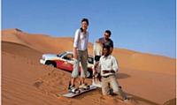 Le désert, aux portes de Dubaï, devient un terrain d'exception pour des activités inédites.