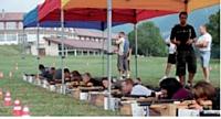 Les revendeurs du réseau Kioneo se sont initiés au biathlon.
