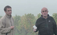 Alain Griaud, à droite, avec son fils.