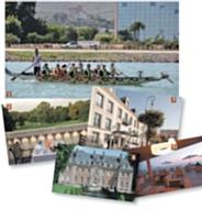 1 - Des olympiades organisées par l'agence Stratevent. 2 et 3 - L'Auberge du Jeu de Paume à Chantilly (Oise). 4 - Le château de Carsix (Eure). 5 - L'hôtel Radisson Blu d'Ajaccio (Corse-du-Sud).