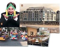 1 - Une opération Lego Serious Game de Teambuilding-entreprise.com. 2 - L'hôtel Le Nouveau Monde à Saint-Malo (Ille-et-Vilaine). 3 - Construction de véhicules en carton avec l'agence Team Tonic Services. 4 - L'hôtel Courtyard By Marriott de Montpellier (Hérault).